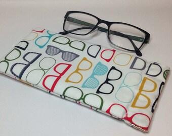 Glasses Case retro Geek Flex frame sunglasses pouch
