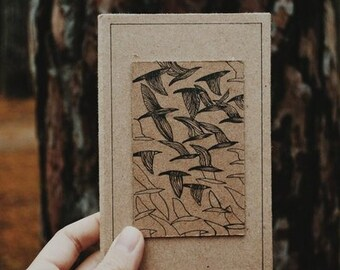 Sketch-book with birds.