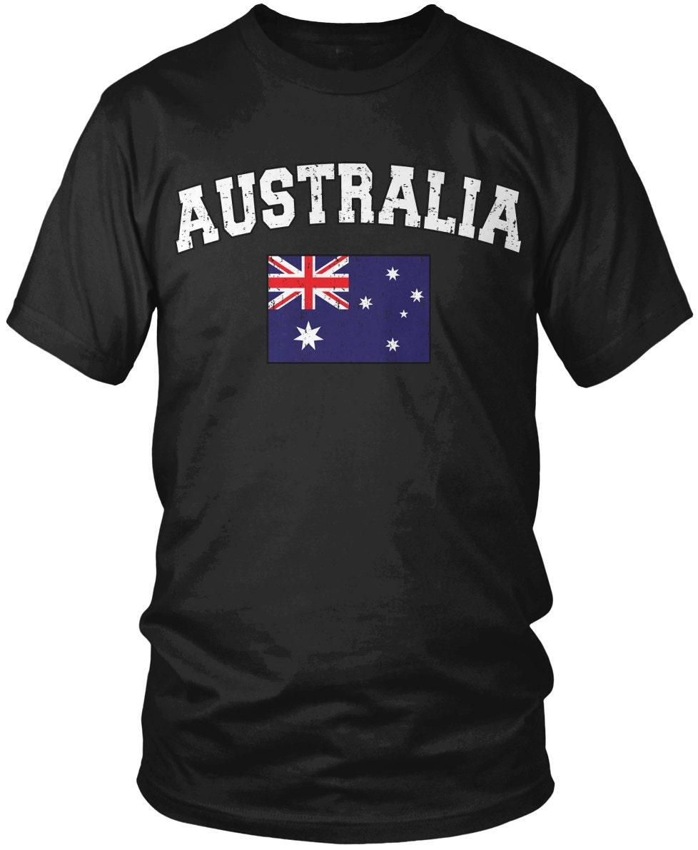 9a80612a79 Distressed Bold Australia Men's T-Shirt, Australian Flag, Commonwealth of  Australia, Pride