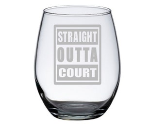 Attorney Gift, Judge Gift, Gift for Lawyer, Court Reporter, Gift for Judge, Lawyer Gift, Lawyer Wine Glass, Law Student, Courtroom Clerk
