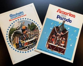 Two Vintage Books/Magazines Celebrating Disney's Bicentennial Celebration in 1976