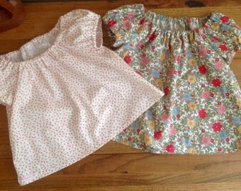 Baby Girl, Girls top, floral,  baby girl top, peasant style, girls clothing, 6m-8years