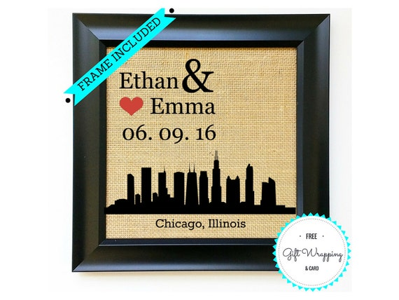 CHICAGO Personalized Wedding Gift Idea Anniversary Gift Ideas ...