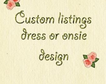 Custom Design Dress,Onesie,crochet top