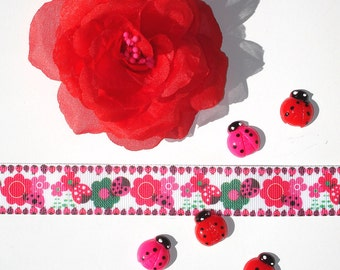 Inspiration Embellishment Kit Red Chiffon Rose Grosgrain Ribbon Hair Bows Hats Home Decor