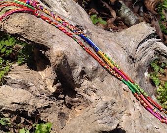 Multi-color friendship bracelets- set of 3