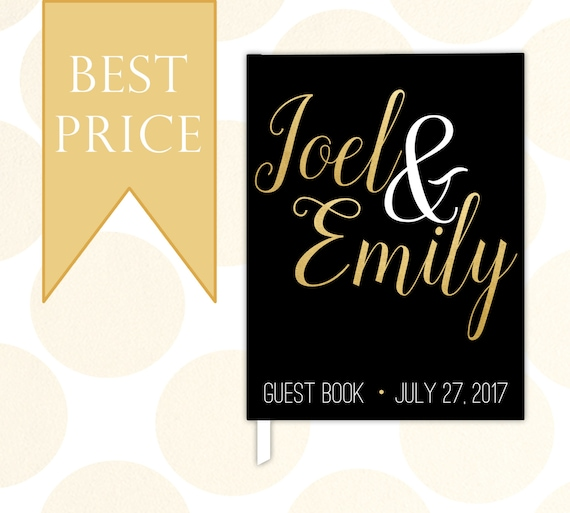 Wedding Guest Book Cover Design : Custom wedding guest book personalized guestbook