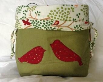 Shawl size drawstring project bag