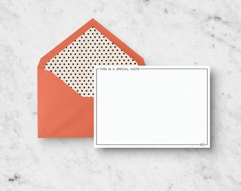 Stationery Set - This Is A Special Note - Set of 10 A2 Notecards with Custom Envelopes - Funny Stationery Set - Modern Stationery Set