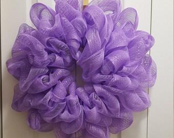 Lilac Deco Mesh Wreath