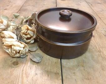 Wedgwood Casserole - Wedgwood 'Sterling' Casserole - Brown Glaze Wedgwood Stoneware Casserole, Perfect Condition! (stock#6289c)
