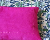 """Pink fur pillow with removable cover 18"""" x 11"""""""