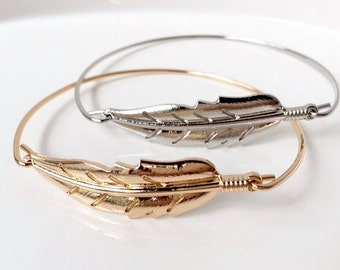 Cheeky & Charming-Aztec Feathers Two Bangle Set