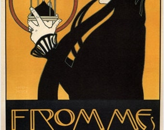 FROMME'S CALENDAR vintage ad poster by koloman moser AUSTRIA 1899 24X36 Rare