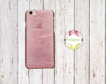 Phone Case for iPhone 6/6S Rose Gold Pink with Brushed Texture