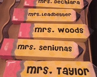 Teacher Nameplate Pencils