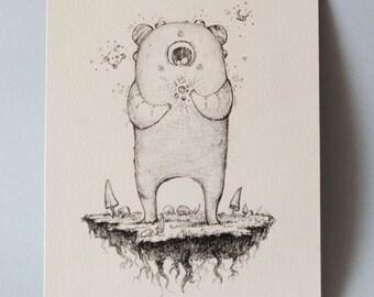 Sparkles! Original Pen&Ink Illustration