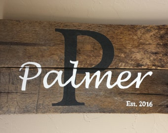 Personalized Wood Pallet Sign