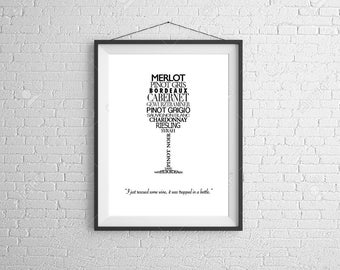 Wine Typography Print (Digital)