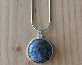 Blue Marble pendant necklace
