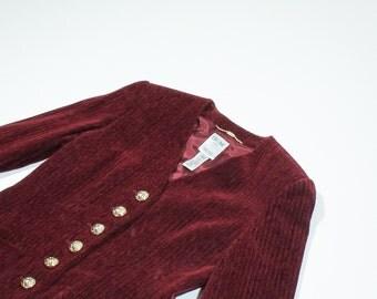 CELINE - Burgundy velvet jacket vintage