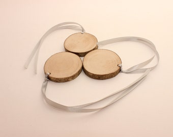 Set of 10 wooden tags | 2-3"