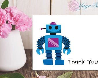 Personalized Robot Stationery / Custom Stationery / Robot Stationery Set / Custom Boy Stationery / Set of 12