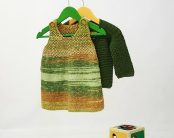 hand-knitted set for girls (12-18 months)