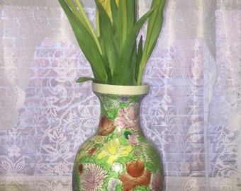 Floral Chinese Vase