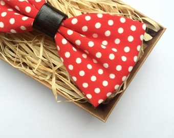 Red Polka Dot Bow-Tie