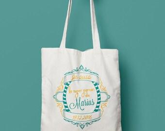 Tote bag personalized sponsor vintage / / gift sponsor