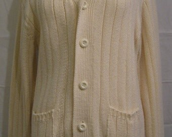Ivory Cardigan Sweater from Century Wear Ladies Vintage 1970s
