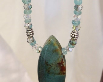 Chrysocolla with Apatite Necklace