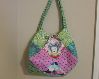 Handmade Quilted Purse - Tula Pink Elizabeth fabric