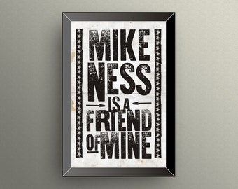 SOCIAL DISTORTION Inspired | Mike Ness | Poster | Print | 11x17
