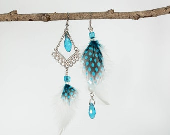 Iceland - Earrings asymmetrical feathers