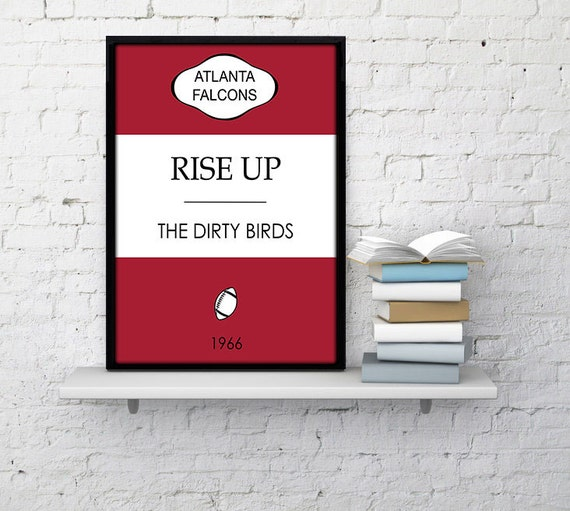 Classic Book Cover Ups : Atlanta falcons classic book cover poster by northernliberties