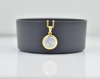 Rainbow Moonstone Necklace, Moonstone Silver Necklace, Silver Moonstone Necklace, Moonstone Silver Pendants, Moonstone Round Pendants
