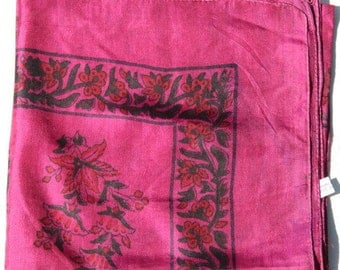 Silk stole, silk flowers scarf