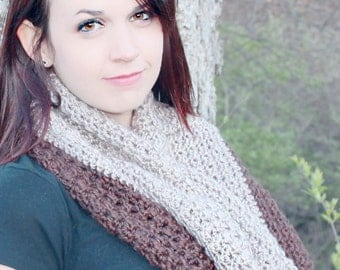 Infinity Scarf, Brown Infinity Scarf, Neutral Infinity Scarf, Brown Cowl,