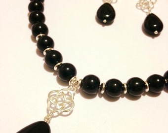 Onyx and Silver set