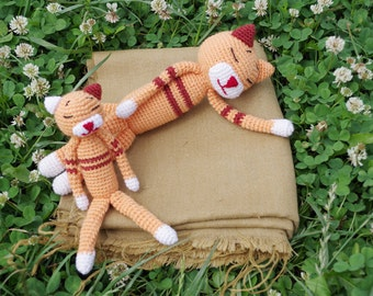 Crochet Amineko Cat Kitten amigurumi toy, stuffed toy, plush Cat Kitten toy, stuffed animal, crochet amigurumi plushie
