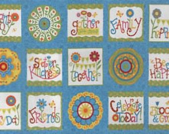 "BLOOMIN' FRESH Panel (23 1/2"" x 44"") by Deb Strain for MODA ~ 19660"