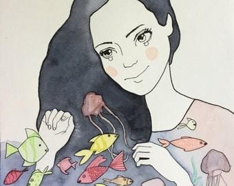 Summer - original illustrations, posters