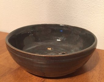 Dark Gray Blue Planter