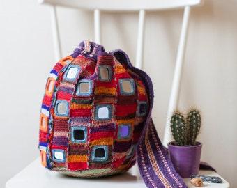 Handmade Mirrored bag from Karnataka, India