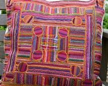 Stitched stripes cushion