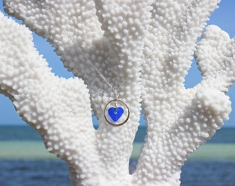 blue seaglass necklace seaglass sterling silver necklace seaglass heart necklace blue seaglass sterling silver heart necklace heart necklace