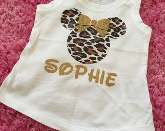 Minnie Mouse Cheetah Tee