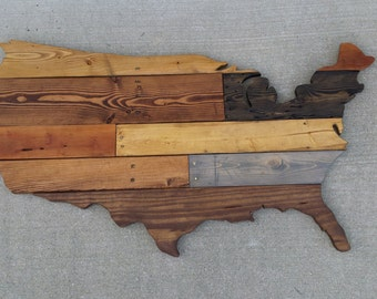 Reclaimed Wood Wall Art **FREE SHIPPING** Large wall hanging